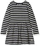 Petit Bateau Mädchen Kleid Robe ML, Mehrfarbig (Smoking/Coquille 57), 140 (Herstellergröße: 10ans/140cm)