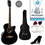 Stretton Payne Grand Auditorium Electro Acoustic Guitar PACKAGE Black