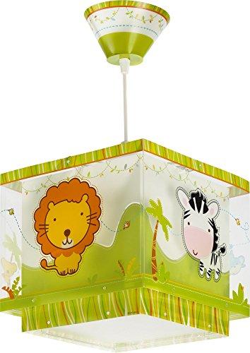 dschungel lampe Dalber 63112 Little Zoo Hängelampe, Plastik, gelb, 24 x 24 x 21 cm