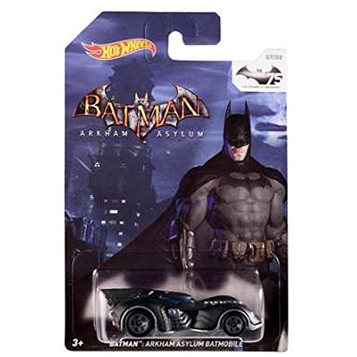 Preisvergleich Produktbild Hot Wheels Batman 75th Anniversary: Batman Arkham Asylum Batmobile