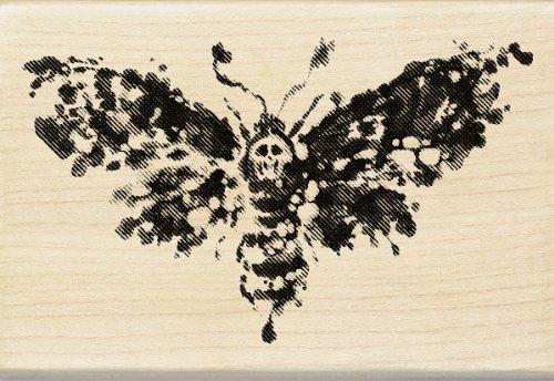 mpel, Tod Kopf Moth (Inkadinkado Stempel Halloween)
