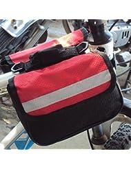 Bazaar VTT trois en un tour à double sac de selle sac avant de bicyclette
