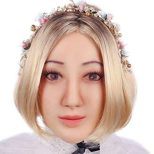 KUMIHO Silikon Mask Realistische Weibliche Masken Halloween Ostern Weihnachtsmasken Gesicht Cosplay Männlich zu Weiblich für Crossdresser Transgender Shemale Engel-1