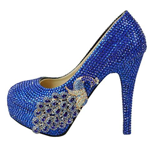 TDA , Semelle compensée femme 14cm Heel Blue