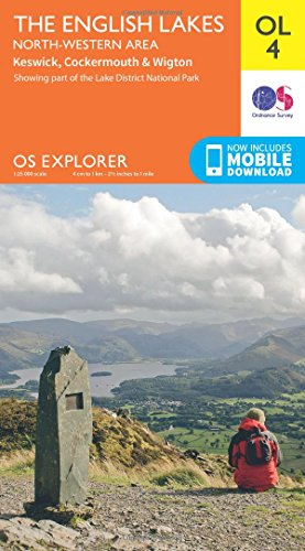 The English Lakes. North Western Area 1 : 25 000: Showing part of the Lake District National Park (OS Explorer Map)