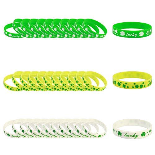 �cksarmband, 36er Gummiarmbänder in 3 Motiv Party Geschenk Iritische Dekoration Mitgebsel für Kinder Erwachsene ()