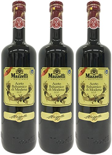 Mazzetti Aceto Balsamico di Modena IGP Tino Tipico (3 x1 Liter) - Balsamessig aus Modena