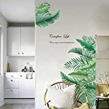 decalmile Adesivi Murali Pianta Tropicali Adesivi da Parete Foglie Verdi Decorazione Murale Bambini Soggiorno Camera da Letto