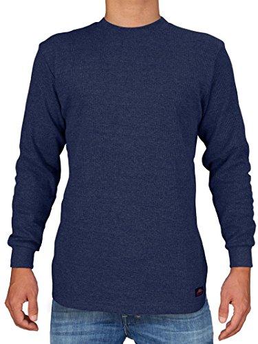 Mens Long Sleeve Thermal Tee (Knocker Herren-Heavy Weight Waffelmuster Thermal-Hemd XXL Marine)