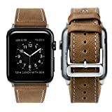 Apple Watch Series 3 Armband 42mm, iBazal Apple Watch Armband Leder Echtes iWatch Strap 42mm...