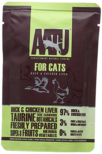 AATU Cat Wet Duck Cat Food pack of 16