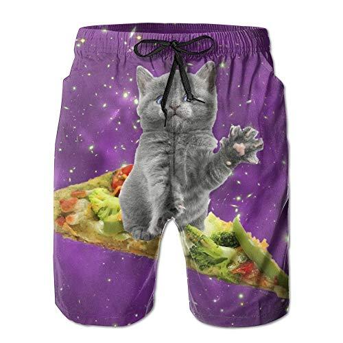 Men Summer Beach Shorts Thin Breathable Quick Dry Rainbow Colorful Print Short Pants Jl Men's Clothing