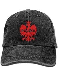 nnmaw Eagle Polska Poland Denim Hat Adjustable Mens Vintage Baseball Caps 3409d8ede82c