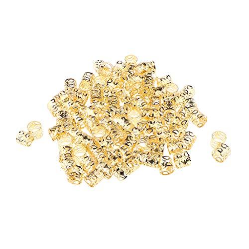 eadlocks Perlen DIY Stil Haarschmuck Braid Ringe - Gold ()