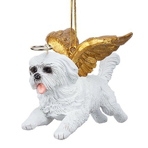 Christbaumschmuck - Ehren Die Pooch Malteser Feiertags-Engels-Hundeornamente -