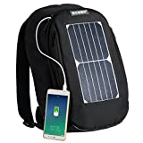 COCTIONE Solar Laptop Backpack Book School Bag with 7 Watts Waterproof Solar Panel