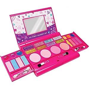 Mi primer set de maquillaje, kit de maquillaje para niñas, paleta de maquillaje desplegable con espejo y cierre de seguridad – Seguridad Comprobada – No Tóxico (Diseño original)