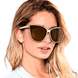 Katzenaugen Schwarz Sonnenbrille Polarisierte für Damen 100% Schutz vor...