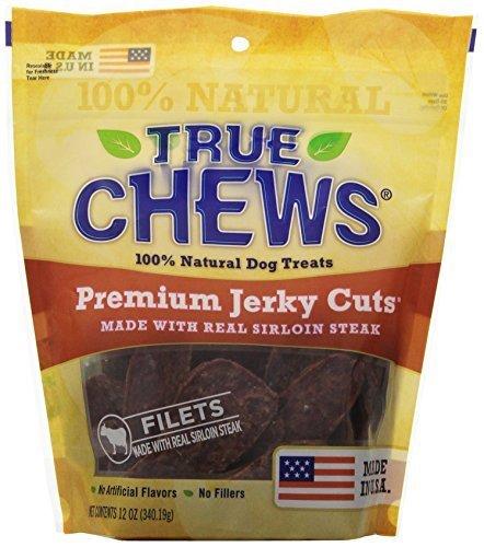 True Chews Sirloin Steak Jerky Fillet Treats, 12 Ounce Package by True Chews