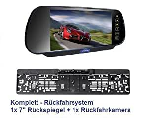17,8cm (7 ZOLL) Auto Rückspiegel + Rückfahrkamera im