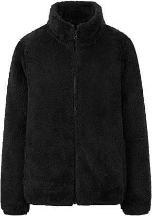 U/A Giacca Stand Collar Doppio Lato Maglione Donna Giacca In Pile Manica Lunga Cerniera Cardigan Manica Lunga Donna Top