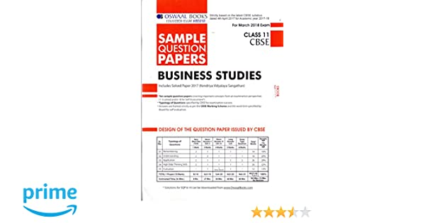 Oswaal cbse sample question papers for class 11 business studies mar oswaal cbse sample question papers for class 11 business studies mar2018 exam amazon panel of experts books malvernweather Choice Image