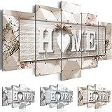 murando Impression sur Toile intissee 200x100 cm 5 Parties Tableau Tableaux Decoration Murale Photo Image Artistique Photographie Graphique Home Planche 3D m-C-0251-b-p 200x100 cm