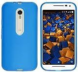 mumbi Schutzhülle Motorola Moto G (3. Generation) Hülle transparent blau