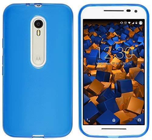 mumbi Schutzhülle Motorola Moto G (3. Generation) Hülle transparent blau Motorola-gerät