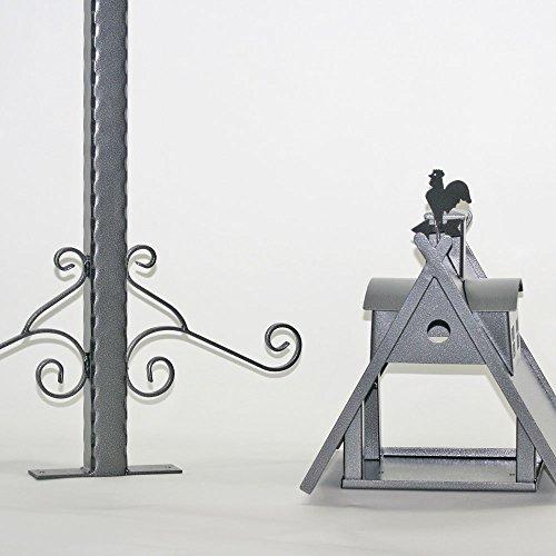 Vogelhaus XXL mit Ständer aus Metall (Farbe: silber-antik) - 6