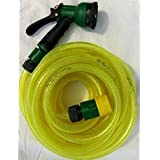 """Eco Home Town Magic Car Washing /for Gardning 1/2"""" Hose Pipe 10 M(30 Feet Random Colors Available)with 8 Pattern Jet Sparay Gun With Extra 1/2"""" Tap Connector With Clamp"""