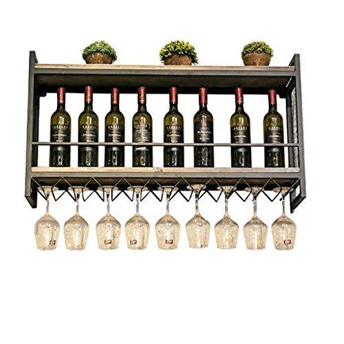 LEI ZE JUN UK- Nordic Weinregal Wandbehang Eisen Holz Wandregal Wein Display Rack Weinregal Weinglas...