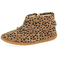Clarks Skylark Form Girls Toddler Boots 8 UK Child Animal Print Brown