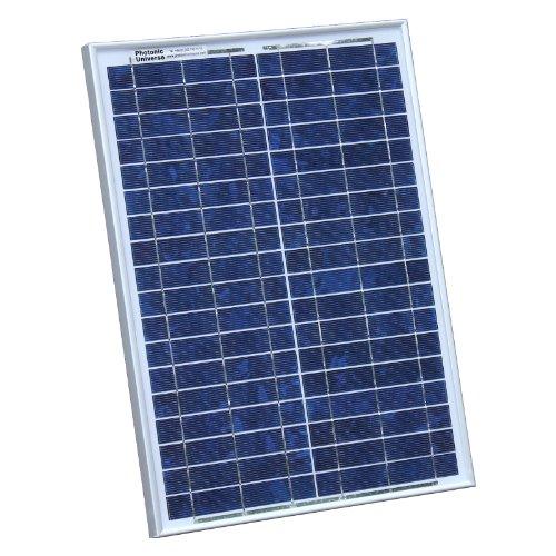 Photonic Universe Solarpanel, 20W 12V, mit 2m Kabel für Wohnmobil, Wohnwagen, Boot oder für jedes andere 12V-System (20Watt) (Batterie Betreuer)