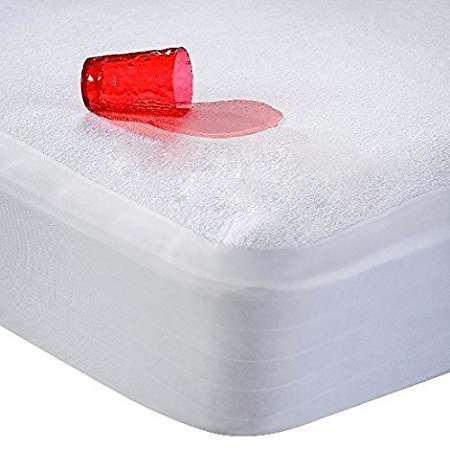 """Cloth Fusion Waterproof & Dustproof Mattress Protector King Size - 78""""X72""""-For King Size Mattress-White"""