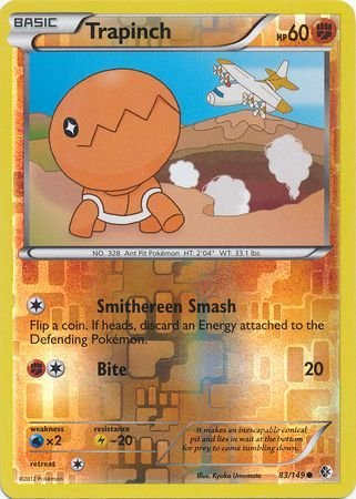 Pokemon Single Card - TRAPINCH 83/149 Reverse Holo BOUNDARIES