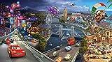 Kinder FOTOTAPETE CARS ABENTEUER Kinderzimmer Tapete Poster Bordüre Auto Wandtatoo Sticker kids wall mural wallpaper (125x70cm Poster 1-Teilig)