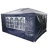 Ncient Faltpavillon 3 x 4 m Faltbar Partyzelt, Wasserdichte Gartenzelt, Festzelt Campingzelt Blau