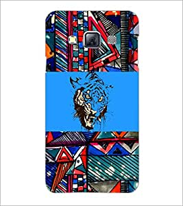 PrintDhaba Abstract Image D-5017 Back Case Cover for SAMSUNG GALAXY A3 (Multi-Coloured)