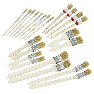 com-four® 22-teiliges Set Malerpinsel, Pinselset für Arbeiten rund ums Haus und im Garten in verschiedenen Größen (22-teiliges Set - Pinsel)