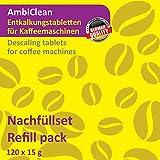 AmbiClean 120 Entkalker-Tabletten für Kaffeevollautomat, Kaffee-Maschine, Padmaschine und Wasserkocher | Kalk-Entferner Kompatibel mit WMF, Jura, Siemens, Bosch, Tassimo, Delonghi UVM.