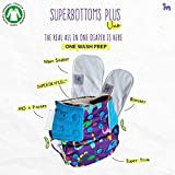 Superbottoms Plus Uno Reusable Cloth Diaper with 2 Certified Safe Organic Cotton Inserts
