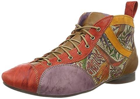 Think Damen Guad Desert Boots, Rot (Chilli/Kombi 76), 43 EU