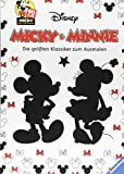 Micky und Minnie - Die größten Klassiker zum Ausmalen: 90 Jahre Micky Das Original