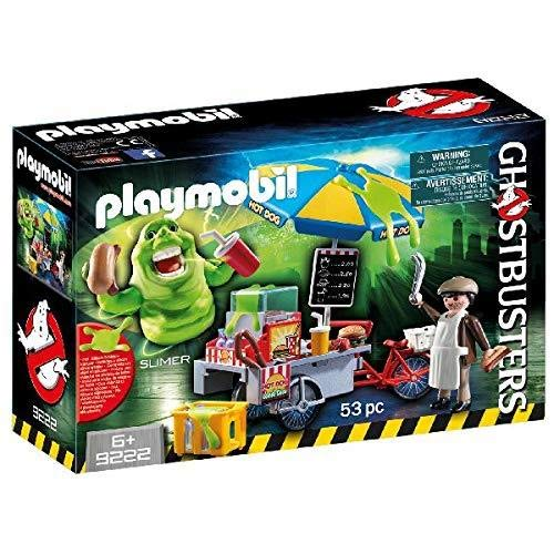 Cazafantasmas- Slimer with Hot Dog Stand Figura con Accesorios, Multicolor (Playmobil 9222)