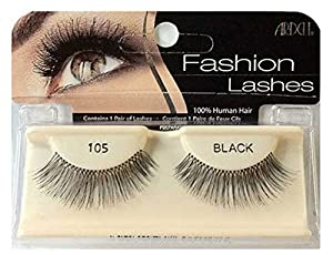ARDELL Fashion & Accent Eyelashes 100% Human Hair No 105 Black