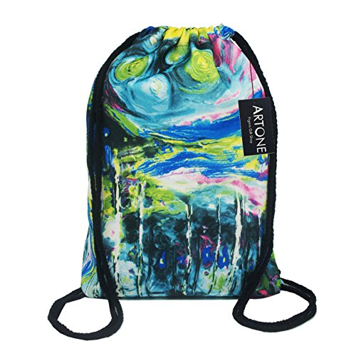 artone-peinture-abstraite-sac-de-cordon-voyager-daypack-des-sports-portable-sac-a-dos-vert