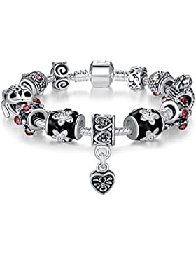 Presentski 925 Sterling Silber Anh?nger Charm Armband mit Lucky Frog Charms f¨¹r Frauen M?dchen Man