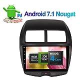 25,7cm Android 7.1Auto Stereo Full Touch in Dash Car Radio Head Unit mit Bluetooth GPS Navigation für Mitsubishi ASX 2007-Unterstützung FM AM RDS 3G WiFi 1080P Lenkradsteuerungsübernahme AV-Ausgang