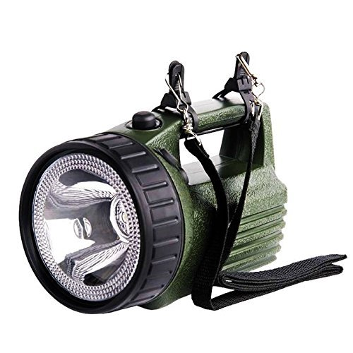Linterna Profesional Portatil Recargable - Lámpara Halógena - un 300{1ff857b3afeedb3c3c9ccf82c09889d7908961dfde1a26e0e8a87346c19dc963} de luminosidad - Color verde y negro + Consta de: Adaptador 12V para coche / Caragador homologado CE GS